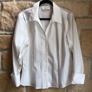 Calvin Klein non-iron white blouse